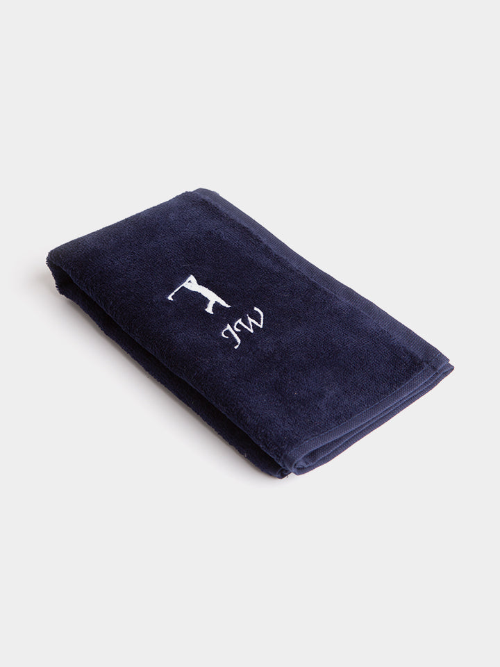 Personalised Golf Towel Navy