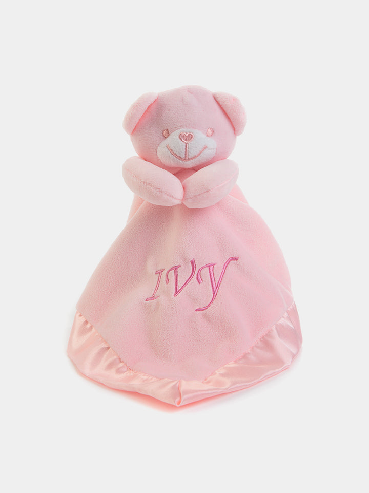 Personalised Baby Bear Comforter - Baby Pink