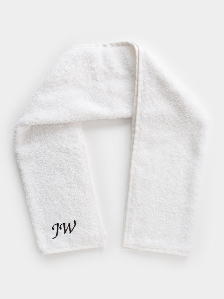 Personalised Gym Towel - White