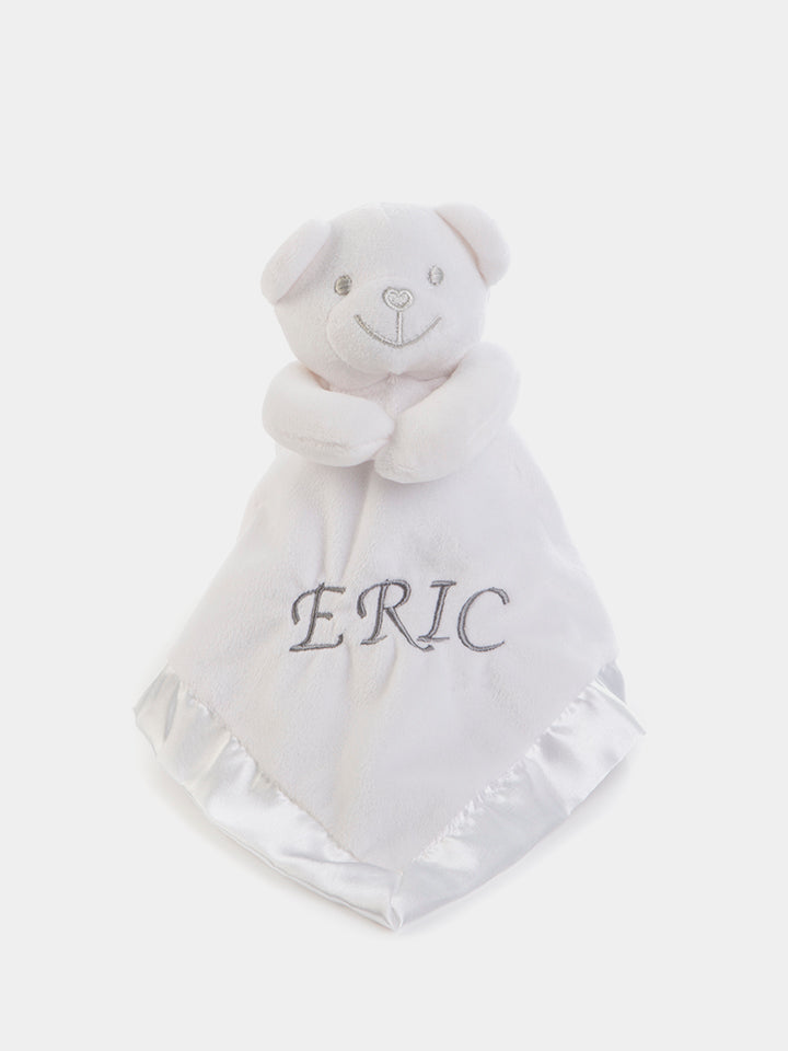 Personalised Baby Bear Comforter - White