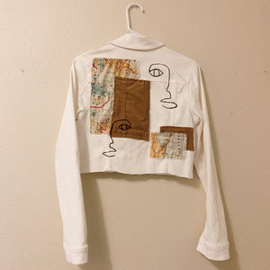 The Karo Cropped White Jacket