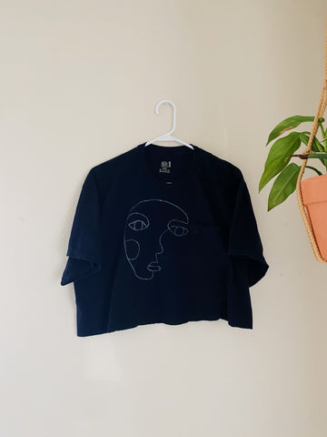 Cropped Face Art T-shirt