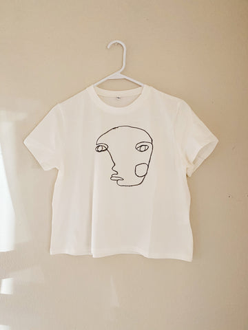 Face Art Cropped T-shirt
