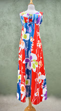 Load image into Gallery viewer, Vintage 1960s Barkcloth Tropical Print Maxi Dress