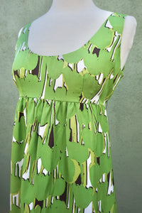 Michael By Michael Green Silk Sleeveless Dress
