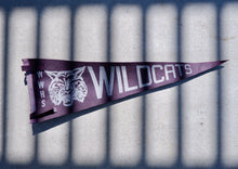 Load image into Gallery viewer, Vintage Mid Century WWHS Wildcats Cheer Flag