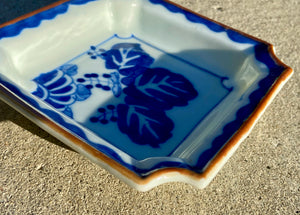 Antique Chinese Ceramic Dish In Blue & White