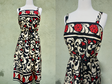 Load image into Gallery viewer, Sleeveless Floral Print Fit And Flare Belted Dress