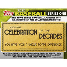 Load image into Gallery viewer, 2020 Topps Series 1 Baseball Hobby Box