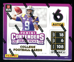2020 Panini Contenders Draft Picks Football Hobby Box