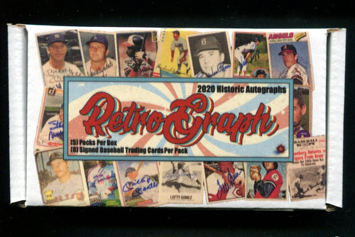 2020 Historic Autographs Retro-Graphs Baseball Box