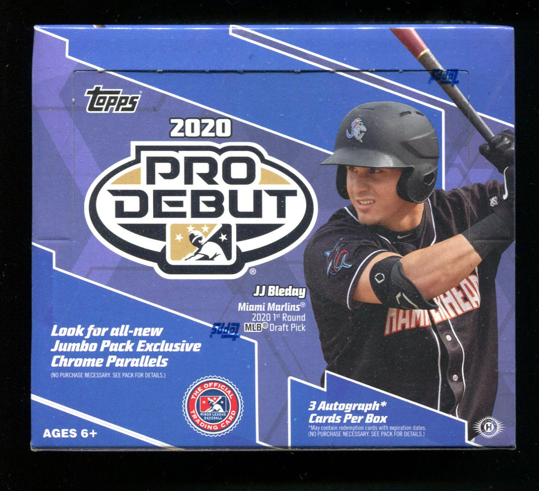2020 Topps Pro Debut Baseball Jumbo Box
