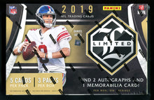 Load image into Gallery viewer, 2019 Panini Limited Football Hobby Box