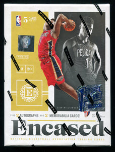 2019/20 Panini Encased Basketball 1st Off The Line Hobby Box