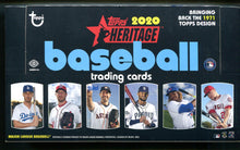 Load image into Gallery viewer, 2020 Topps Heritage Baseball Hobby Box