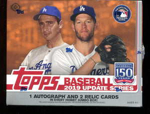 2019 Topps Update Series Baseball Jumbo Box