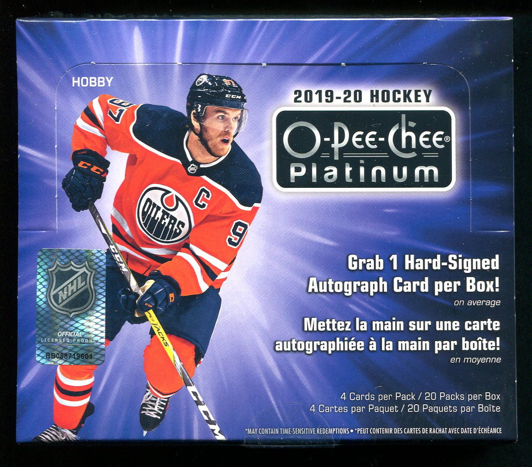 2019/20 O-Pee-Chee Platinum Hockey Hobby Box - have 2 available through PayPal