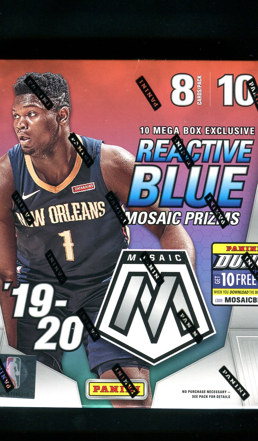 2019-20 Prizm Mosaic Basketball Mega Box