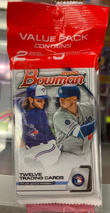 2020 Bowman Baseball Retail Cello Pack