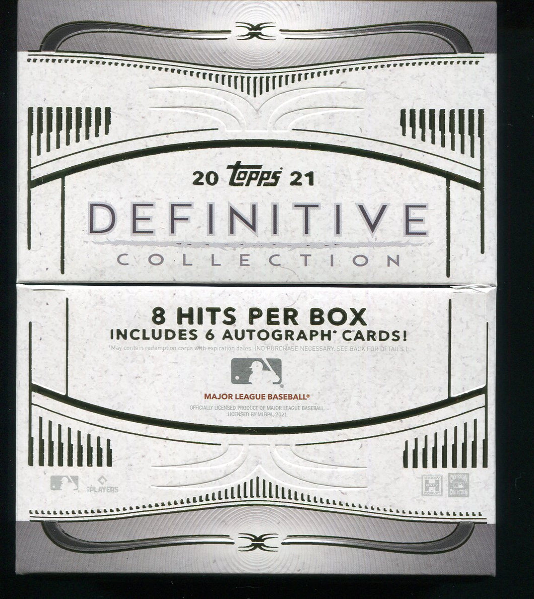 2021 Topps Definitive Baseball Hobby Box