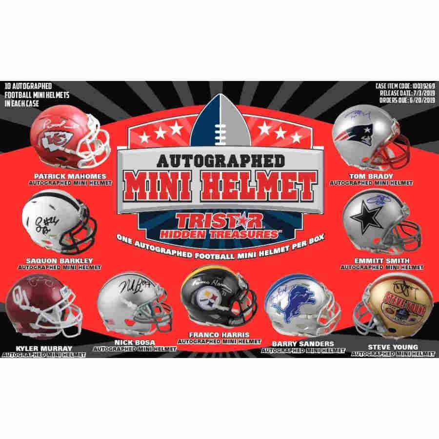 2019 TRISTAR HIDDEN TREASURES FOOTBALL MINI HELMET BOX