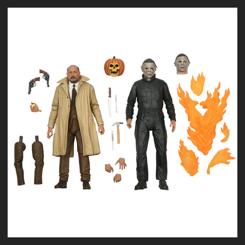 "Halloween II (1981)- 8"" Clothed Action Figure- Dr. Loomis & Laurie Strode 2-pack (Pre-Order)"
