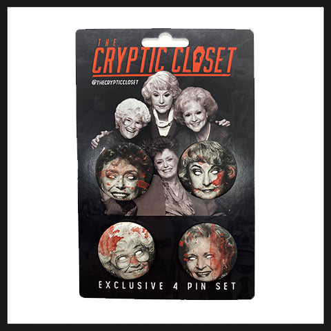 Ghoulish Girls Pin Set