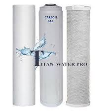 "Water Filter Sediment/Carbon Block/GAC KDF55 Water Filter Cartridge (20""x4.5"") Big Blue - Titan Water Pro"