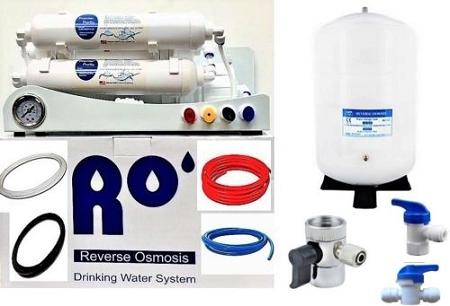 Reverse Osmosis Water Filter 6 Stage System, pH plus Alkaline - 50 GPD - Titan Water Pro