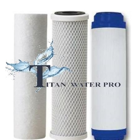 REVERSE OSMOSIS/DRINKING WATER FILTER FILTERS 3PCS RO Pre-Filters - Titan Water Pro