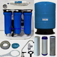 RO Reverse Osmosis Water Filter System w/ Booster Pump- 400 GPD - 20 Gallon Tank - Titan Water Pro