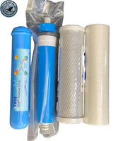 Replacement Filters Membrane & Alkaline Orp Filter Set for 4 Stage RO System - Titan Water Pro