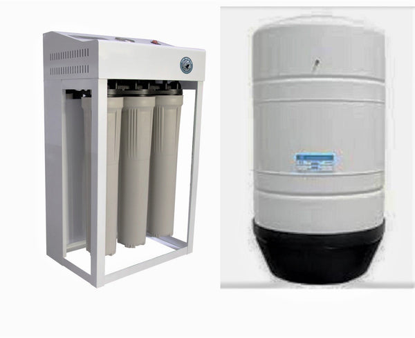 Reverse Osmosis Water Filtration System 800 GPD Dual Booster Pump Auto Flush RO - 40 G Tank - Titan Water Pro