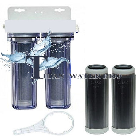 RO/DI Dual DI Filter Cartridges - Color Changing DI - Add on to RO - Titan Water Pro