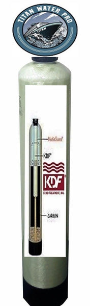 1054 TANK WATER FILTER  KDF85/Catalytic Carbon IRON/HYDROGEN SULFIDE - Titan Water Pro