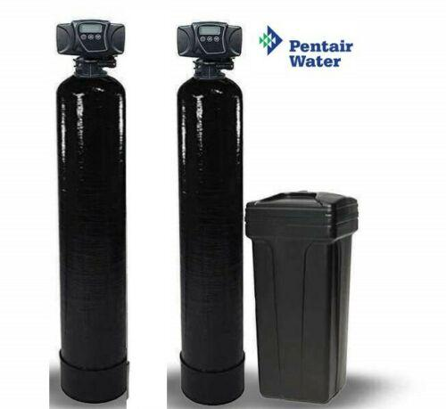 Dual Whole House Catalytic Carbon & Softener System - Fleck 5600 SXT Digital - Titan Water Pro