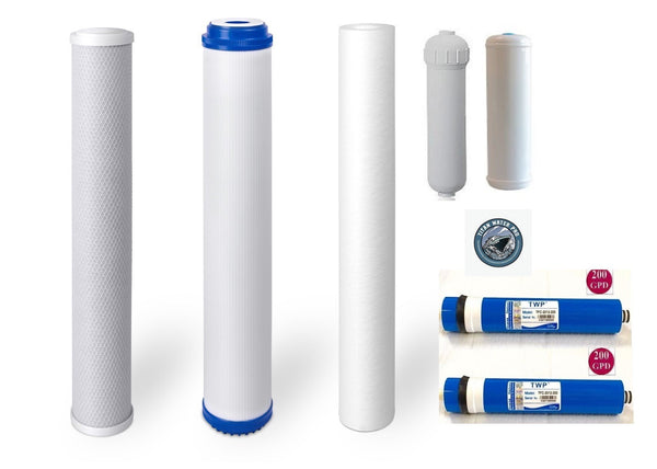 "Water Filters/Membrane Replacement Sets - 20""x2.5"" Pre Filters - 400 GPD - Titan Water Pro"