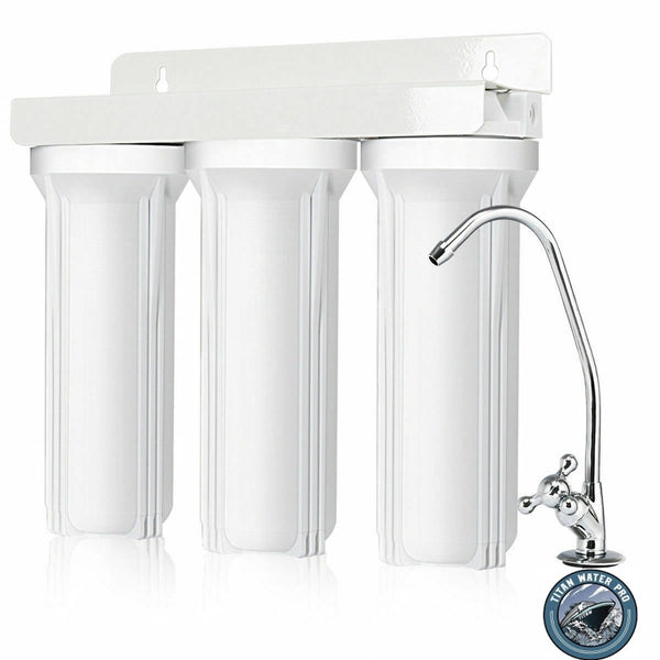 Undersink Drinking Water Filter - Sediment/Mixed Media Filter 3 Stages - Titan Water Pro