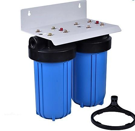 Whole House Big Blue Water Filter System Sediment & KDF85/GAC - Well Water - Titan Water Pro