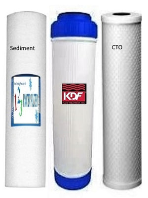 "BIG BLUE 20"" WATER FILTER SYSTEM 1"" WITH FILTERS-TRIPLE KDF85 - Well Water - Titan Water Pro"