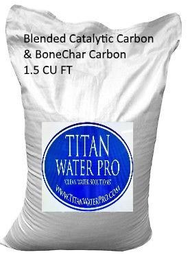 Blended Catalytic Carbon & Bone Char 1.5 CUFT replacement media for 1054 Tank - Titan Water Pro