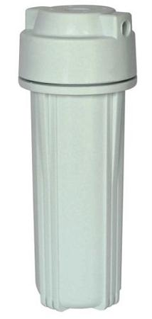 "Water Filter Housing Standard 10"" for RO 1/4"" port (White) Double O Ring High Pressure - Titan Water Pro"