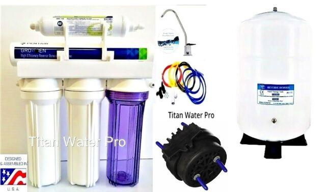 RO-Reverse Osmosis Water Filtration System 1:1 Ratio Pentair GR-EN50 Hi Recovery - Permeate Pump ERP 500 - Titan Water Pro