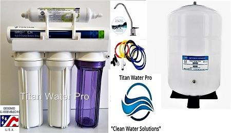 RO Reverse Osmosis Water System High Recovery unit - Alkaline Ionizer 6 Stage GRO-EN50 1:1 Ratio - Titan Water Pro