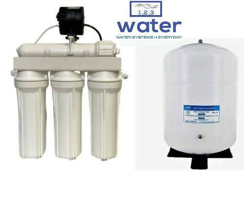 REVERSE OSMOSIS WATER FILTER WITH PERMEATE PUMP 5 STAGE-ERP1000 - ROT-14 TANK - Titan Water Pro