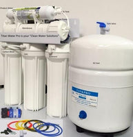RO Reverse Osmosis Water Filtration 5 Stage System with Booster Pump - 100 GPD - Titan Water Pro