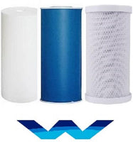 "Water Filter Sediment/Carbon Block/GAC Coconut Carbon Water Filter Cartridge (20""x4.5"") Big Blue - Titan Water Pro"