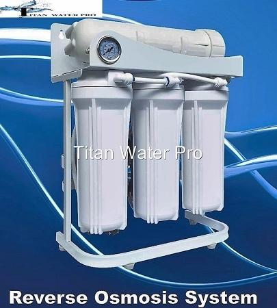 RO Reverse Osmosis Water Filter 5 Stage System 300 GPD-Booster Pump & PSI Gauge - Titan Water Pro