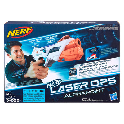 Nerf Laser Ops Pro Alphapoint requires 4 x AA batteries