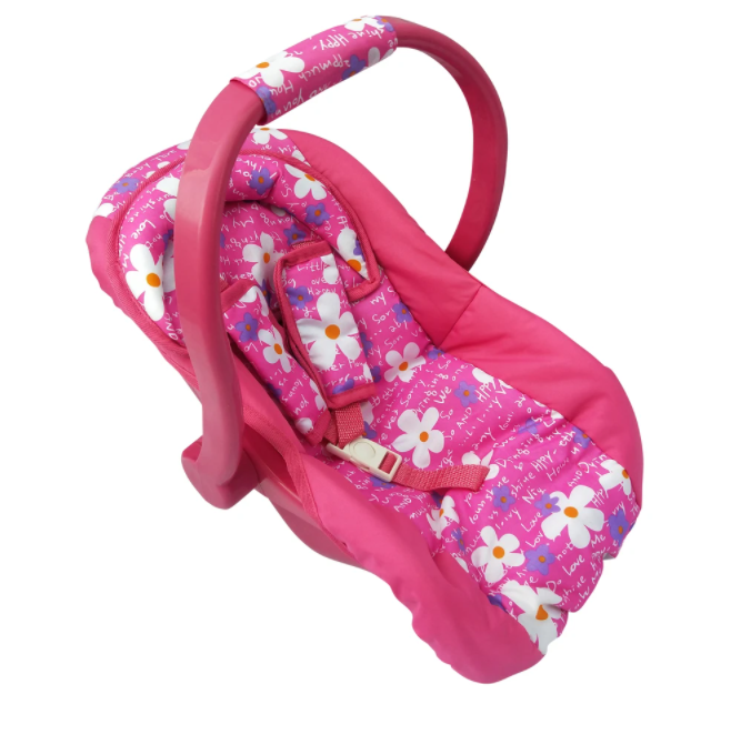 Playworld Pink with Flowers Dolls Car Carrier